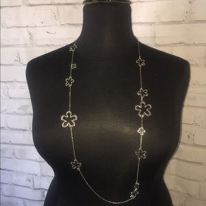 Silver toned necklace